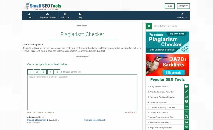 plagiarism checker 5000 words free